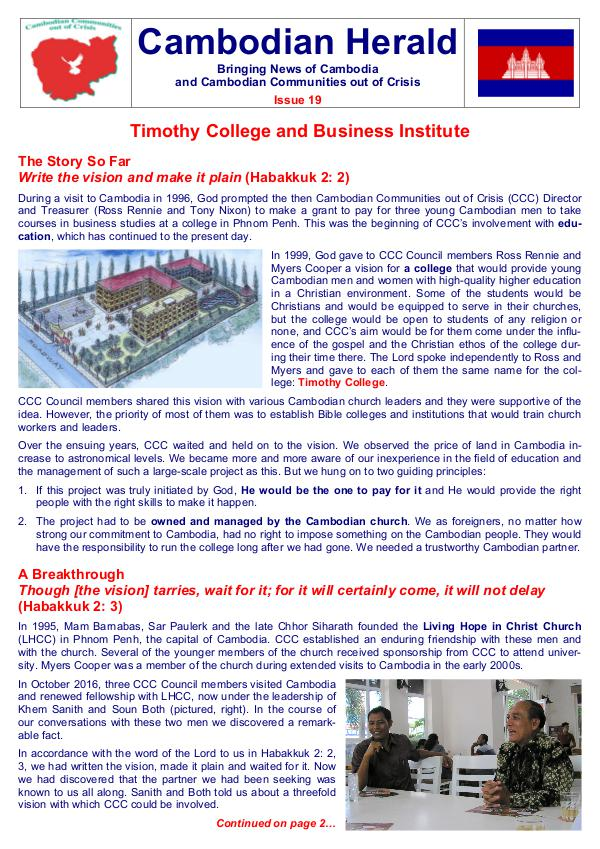 Cambodian Herald Issue 19 Cambodian Herald Issue 19