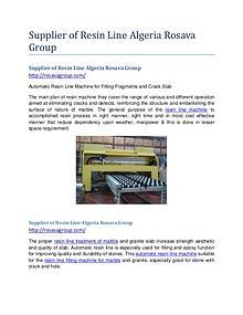 Supplier of Resin Line Algeria Rosava Group