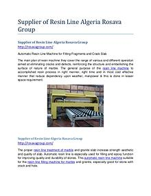 Supplier of Resin Line Algeria Rosava Group