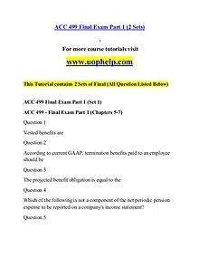 ACC 499 help A Guide to career/uophelp.com