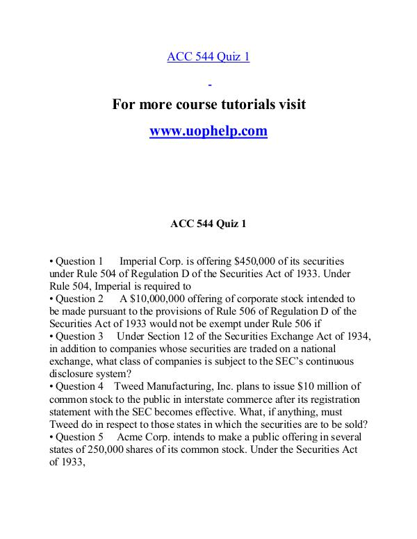 ACC 544 help A Guide to career/uophelp.com ACC 544 help A Guide to career/uophelp.com