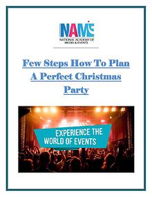 Few Steps How To Plan A Perfect Christmas Party