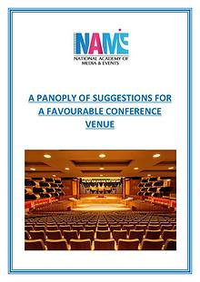 A Panoply of Suggestions for a Favourable Conference Venue