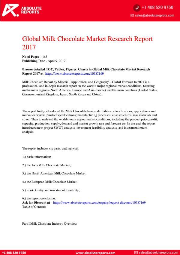 28-07-2017 Milk-Chocolate-Market-Research-Report-2017