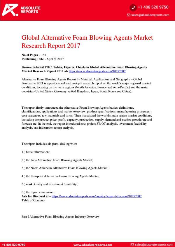 28-07-2017 Alternative-Foam-Blowing-Agents-Market-Research-Re