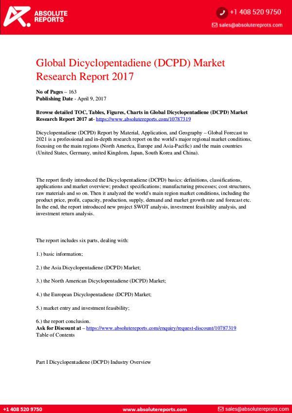 28-07-2017 Dicyclopentadiene-DCPD-Market-Research-Report-2017