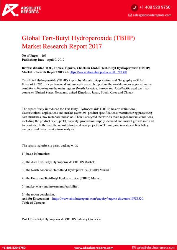 28-07-2017 Tert-Butyl-Hydroperoxide-TBHP-Market-Research-Repo