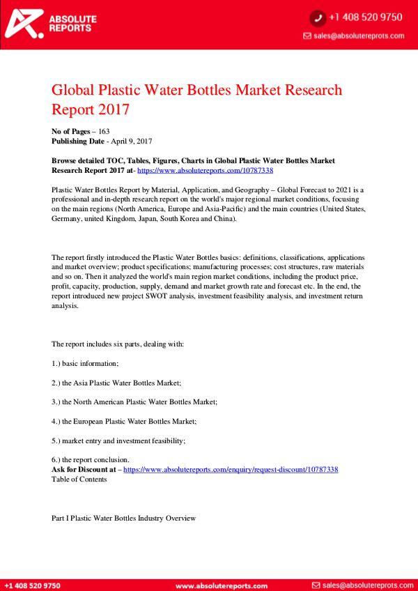28-07-2017 Plastic-Water-Bottles-Market-Research-Report-2017