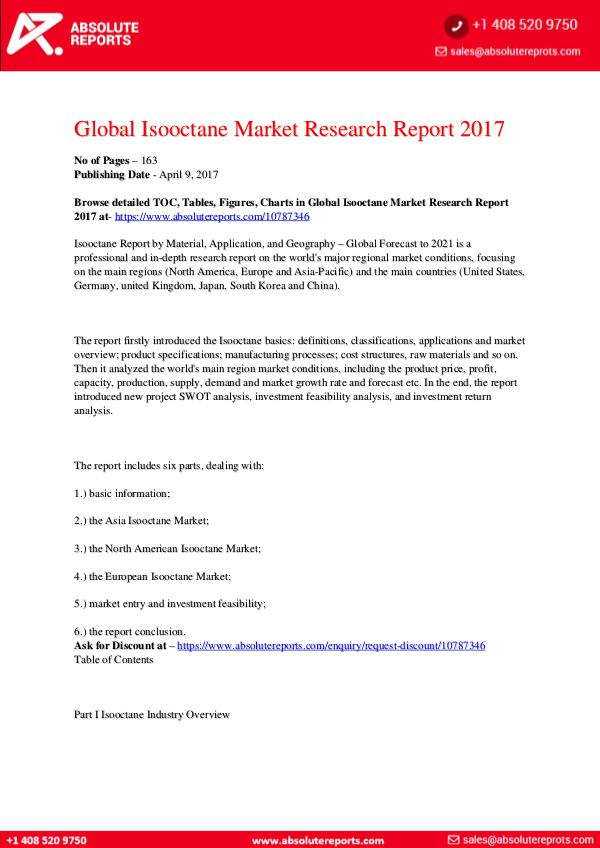 28-07-2017 Isooctane-Market-Research-Report-2017