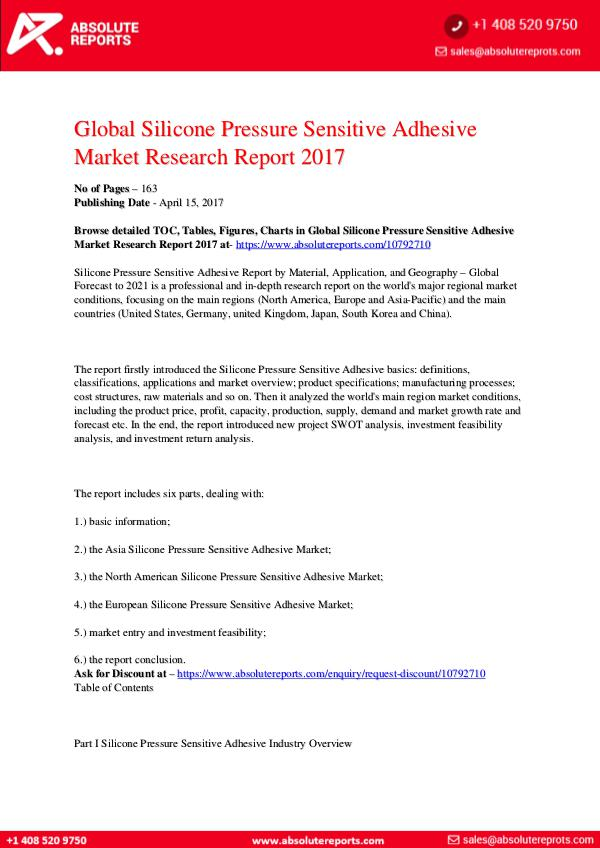28-07-2017 Silicone-Pressure-Sensitive-Adhesive-Market-Resear