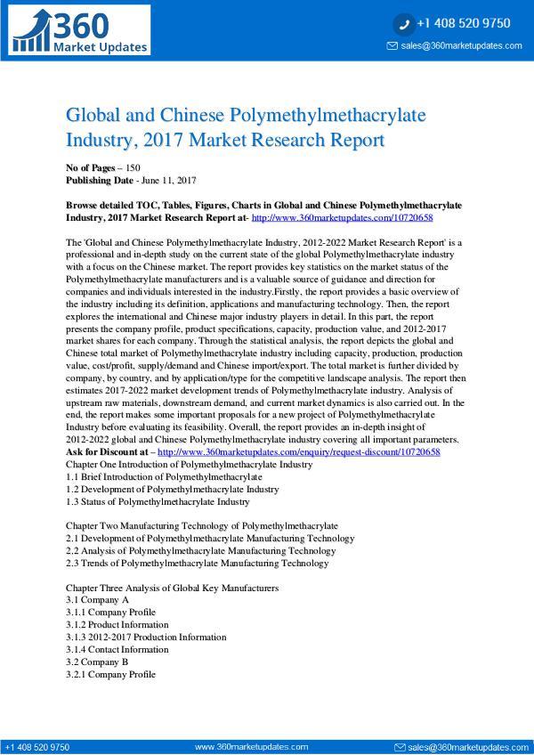 22-06-2017 Polymethylmethacrylate-Industry-2017-Market-Resear