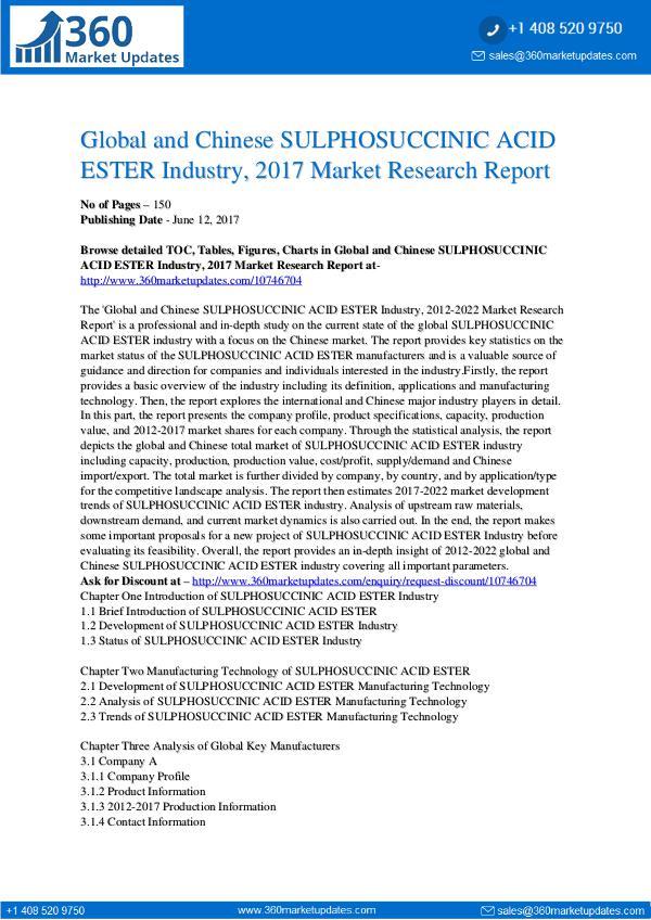 22-06-2017 SULPHOSUCCINIC-ACID-ESTER-Industry-2017-Market-Res