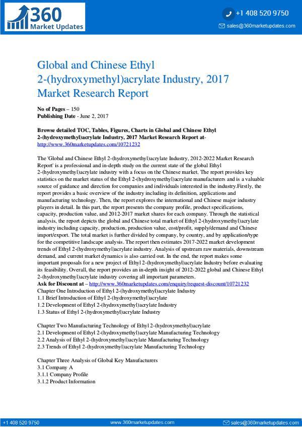 Ethyl-2-hydroxymethyl-acrylate-Industry-2017-Marke