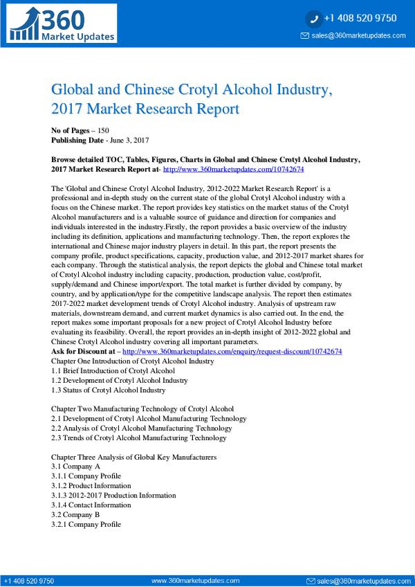 23-06-2017 Crotyl-Alcohol-Industry-2017-Market-Research-Repor