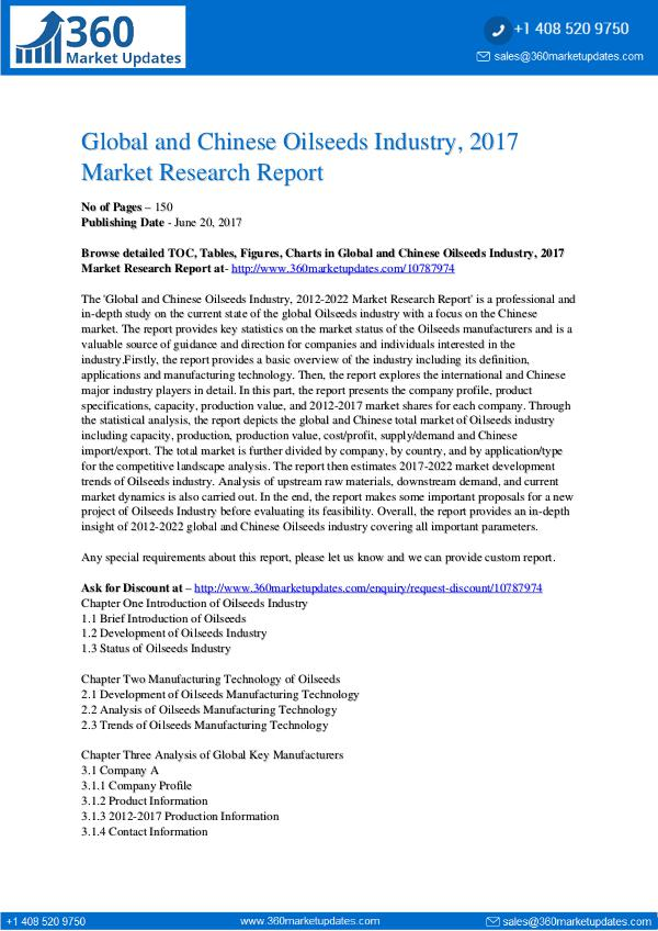 23-06-2017 Oilseeds-Industry-2017-Market-Research-Report
