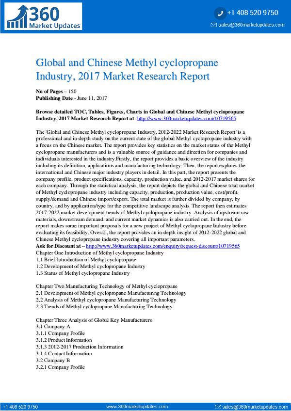 27-06-2017 Methyl-cyclopropane-Industry-2017-Market-Research-