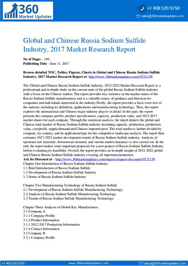 27-06-2017 Russia-Sodium-Sulfide-Industry-2017-Market-Researc