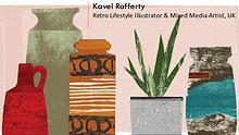 Kavel Rafferty - Retro Lifestyle Illustrator & Mixed Media Artist, UK