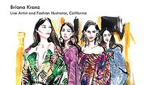 Briana Kranz - Live Artist and Fashion Illustrator. California