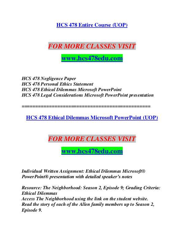 HCS 478 EDU Let's Do This /hcs478edu com HCS 478 EDU Let's