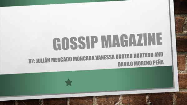 Gossip magazine Gossip magazine ( Fourth section) (1)