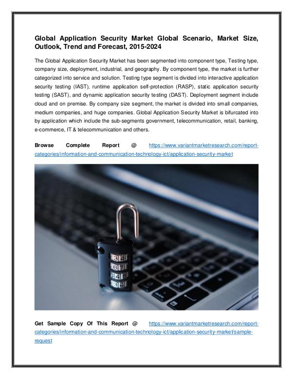 Global Application Security Market Global Scenario Global Application Security Market Global Scenario