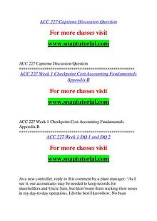 ACC 227 help A Guide to career/Snaptutorial