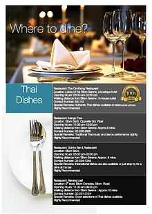 Information for in-house guests at Silom Serene