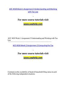 ACC 4010 help A Guide to career/uophelp.com