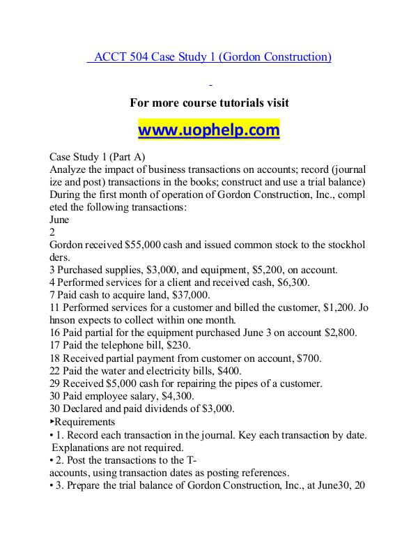 ACCT 504 help A Guide to career/uophelp.com ACCT 504 help A Guide to career/uophelp.com