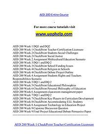AED 200 help A Guide to career/uophelp.com