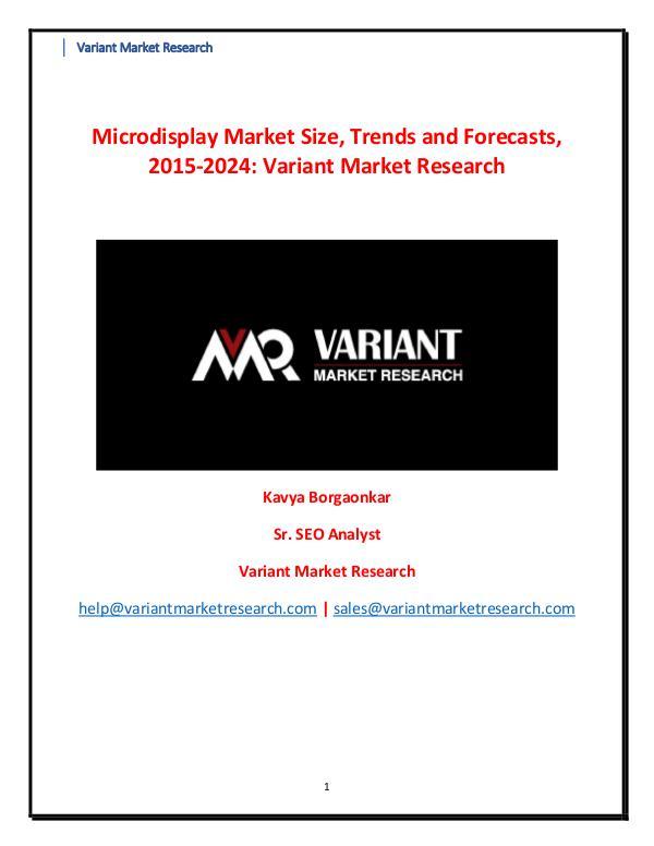 Microdisplay Market Microdisplay Market Size