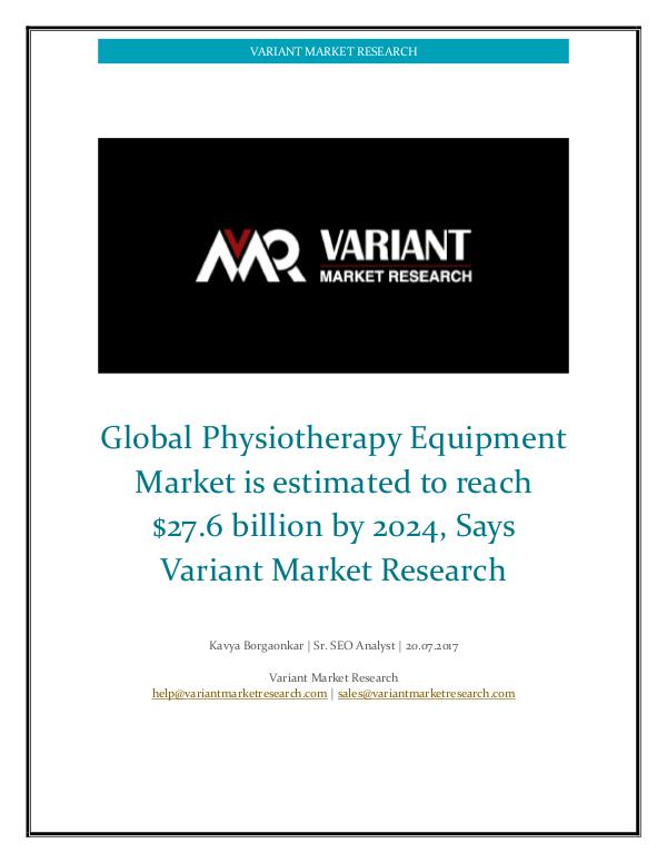 Physiotherapy Equipment Market Global Physiotherapy Equipment Market