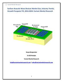 Surface-Acoustic Wave Devices Market