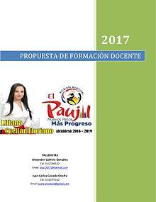 PROPUESTA DE FORMACIÓN DOCENTE