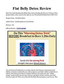 Josh Houghton's Flat Belly Detox Manual PDF / eBook