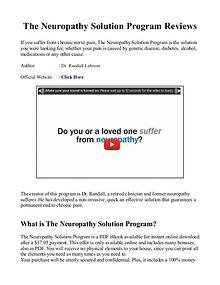 The Peripheral Neuropathy Solution Program PDF / eBook Free Download