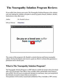 The Peripheral Neuropathy Solution Program PDF / eBook Free Download