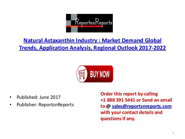 Global Natural Astaxanthin Market 2017-2022 Growth, Trends and Demand Natural Astaxanthin PDF  DOC 1..( 14  JUNE)