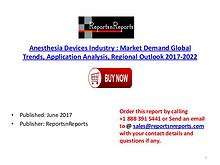 Anesthesia Devices Industry Global Market Trends, Share, Size and 202