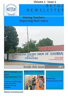 BETUZ Newsletter Vol 1 Issue 1