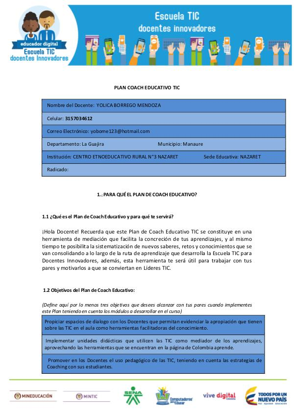Mi primera revista PLAN COACH EDUCATIVO