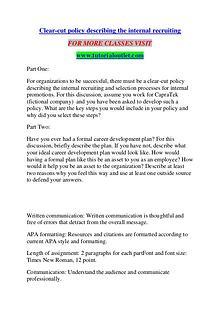 CLEAR-CUT POLICY DESCRIBING THE INTERNAL RECRUITING / TUTORIALOUTLET