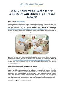 5 Easy Points One Should Know to Settle Down with Reliable Packers an