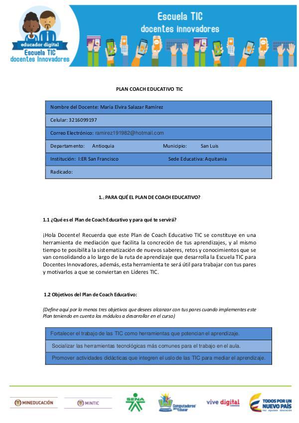MI PLAN COACH EDUCATIVO plan coach educativo..