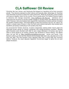 CLA Safflower Oil Review