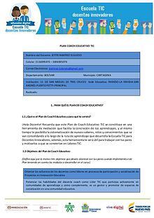 Plan Coach Educativo TIC JRamírezE