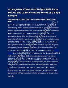 StorageTek LTO-6 Half Height IBM Tape Drives and tape library