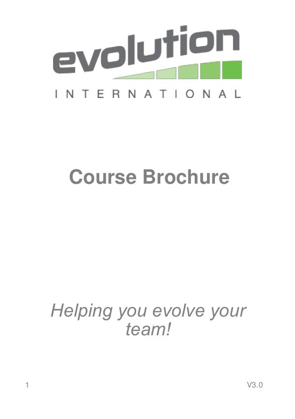 Evolution International Ltd Course Brochure V3.0