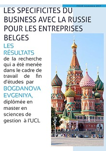 The russian business specificities for Belgian companies